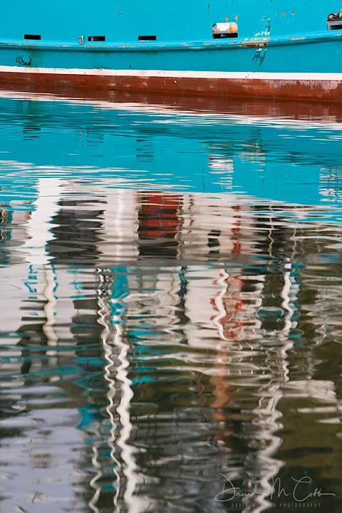 Reflections in Newport Harbor, Newport, OR. USA