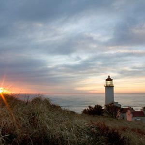 North Head Lighthouse Sunset