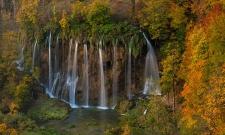 Plitvice Autumn Waterfall V