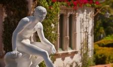 Hearst Garden Statue Mercury