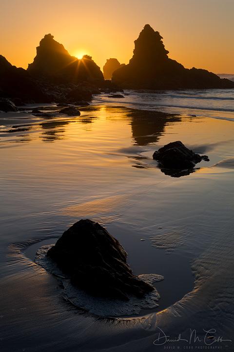 Jug Handle Beach at sunset
