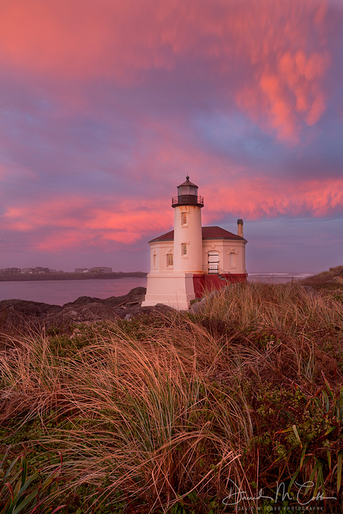 Coquille River Lighthouse at Sunrise